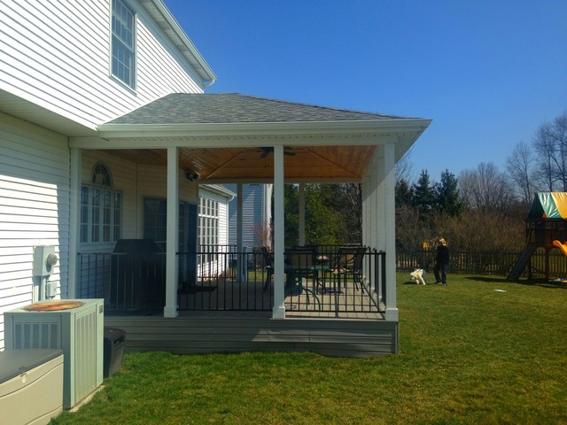 covered back porch design ideas floor plans cool deck traditional for mobile homes