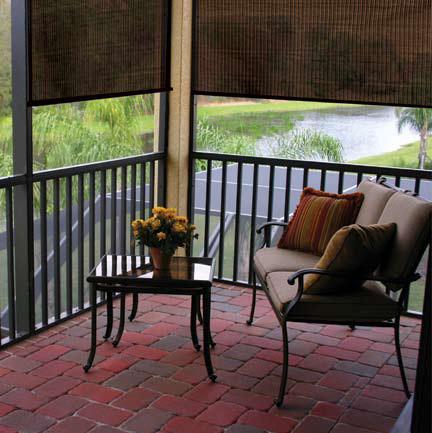 Coolaroo Exterior Sun Shade Traditional Veranda Houston By Blinds Com Houzz Uk