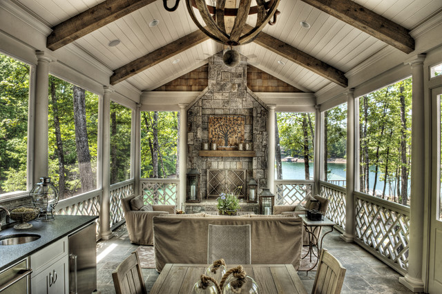 eclectic porch by Gabriel Builders Inc.