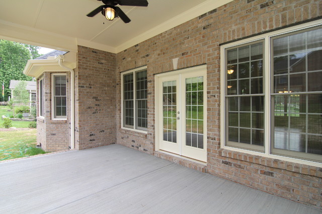 Covered Concrete Patio Porch Raleigh By Stanton Homes