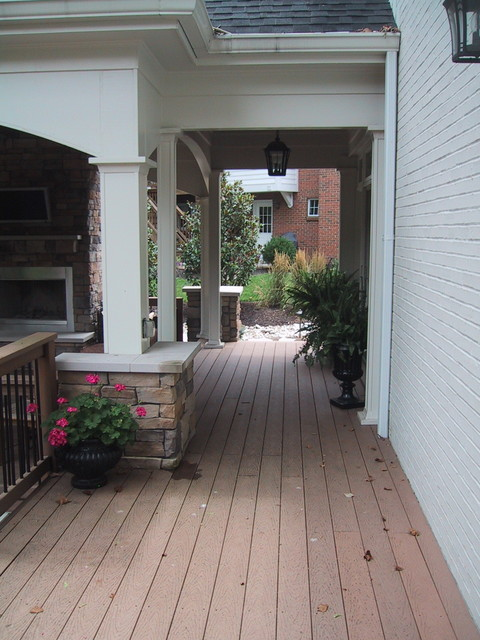 Covered Deck Addition traditional-porch
