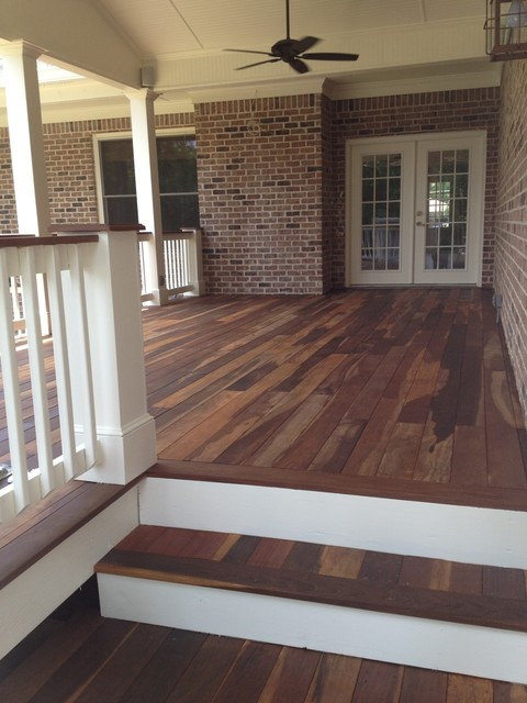 Covered Ipe Wood Deck Traditional Porch Atlanta By