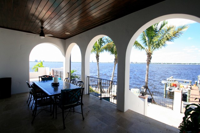 Covered Lanai Mediterranean Porch Tampa By Balber