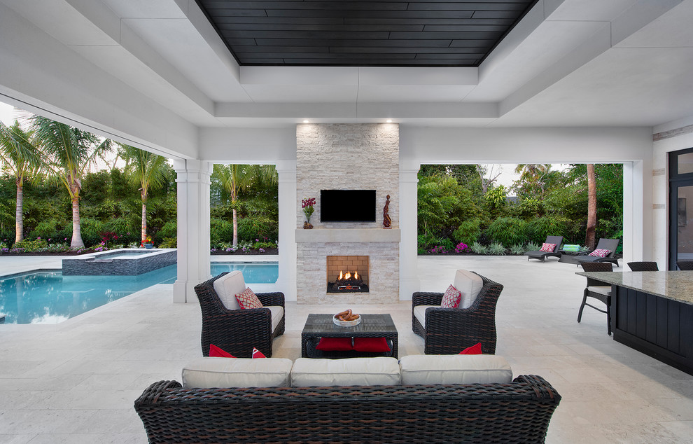 Covered Lanai Transitional Porch Miami By Wdg Architecture Planning Interiors Houzz