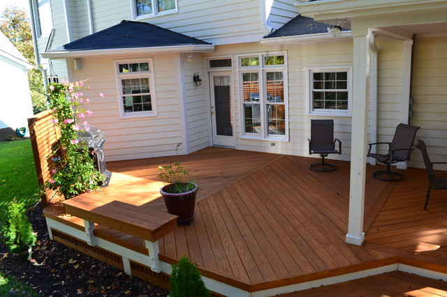 Covered Porch In Durham Nc Traditional Porch