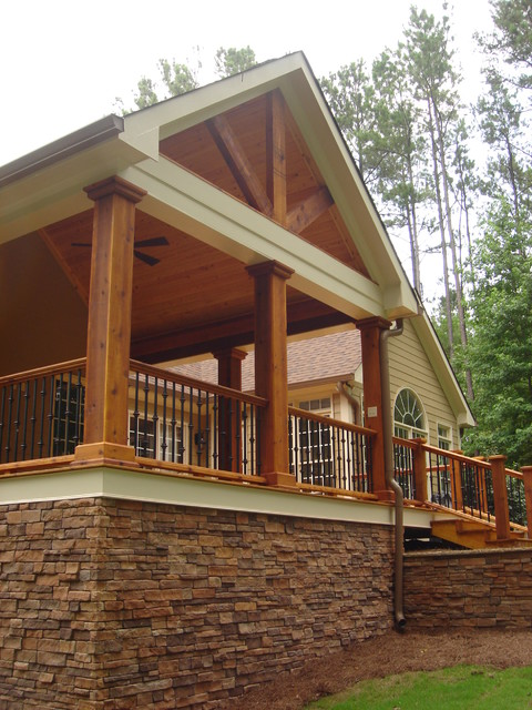Covered porch for Balcony ceiling design