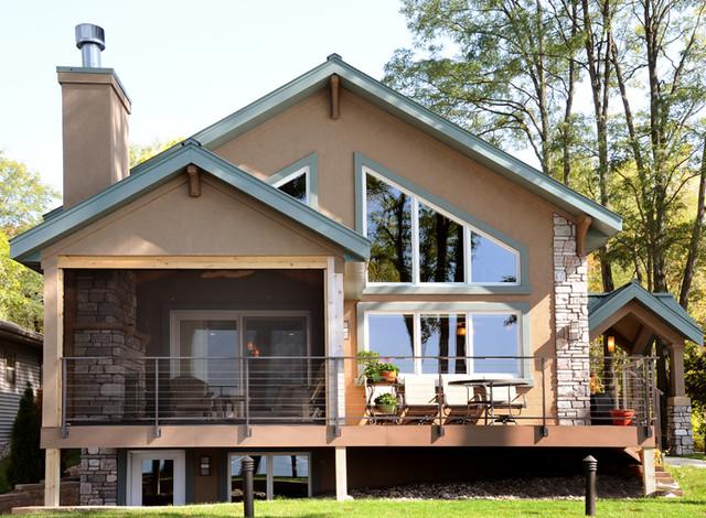 Covered Screen Porch & Deck contemporary-porch