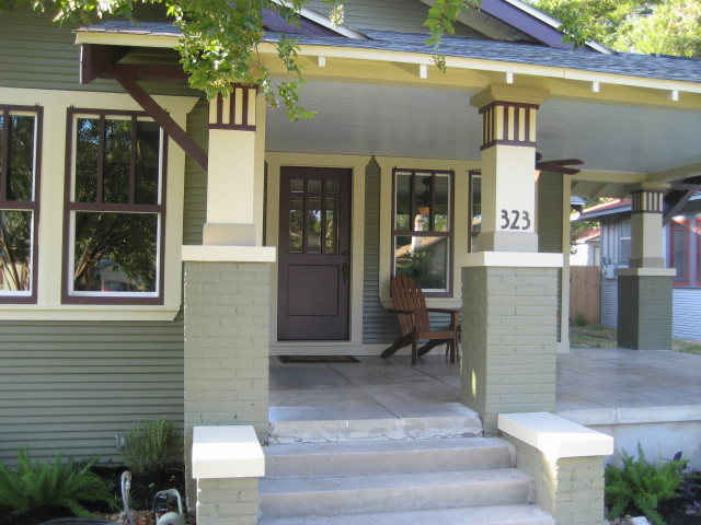 Craftsman front porch traditional porch san diego for Bungalow house numbers