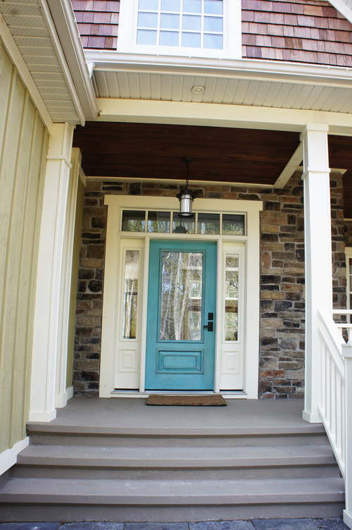 Glazed Faux Finish Front Door