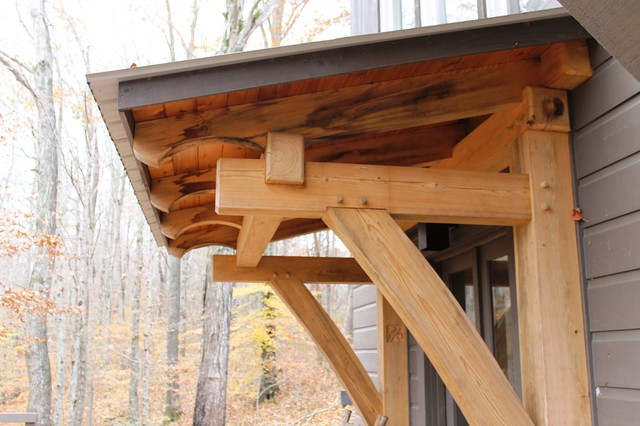 Timber frame deck roof joy studio design gallery best for Timber frame porch designs