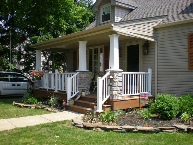 Craftsman style cape cod craftsman porch new york for Craftsman cape cod