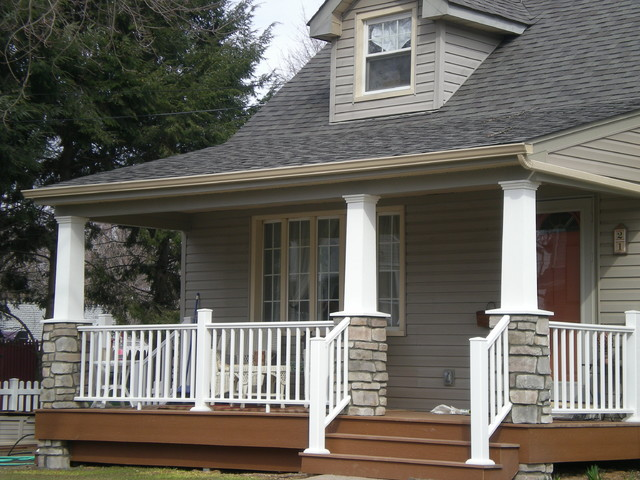 Craftsman style cape cod craftsman porch new york for Cape cod porch