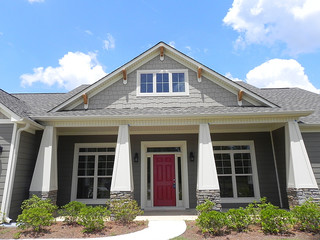 Craftsman style front porch craftsman porch atlanta for Craftsman style home builders atlanta