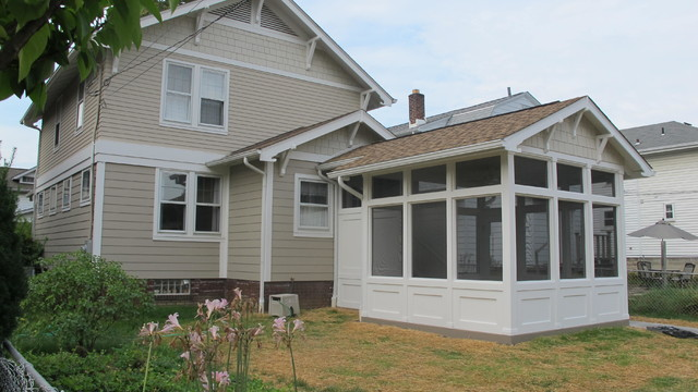 Craftsman Style Screened Porch And