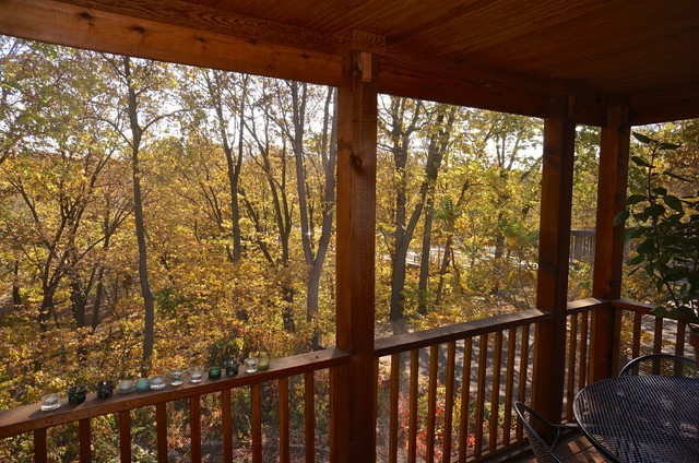 Creekside Room Addition and Screen Porch traditional-porch