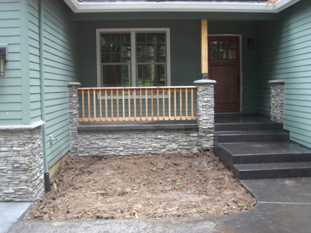 cultured stone exterior traditional porch portland by