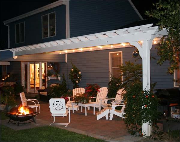 Attached Pergola contemporary-porch