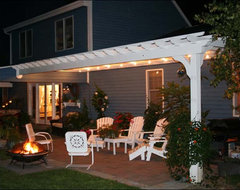 Attached Pergola contemporary porch