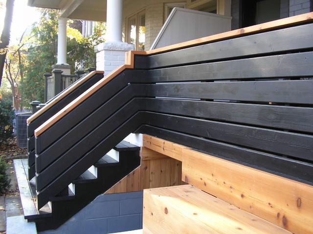 Custom Cedar Fencing And Deck Contemporary Porch