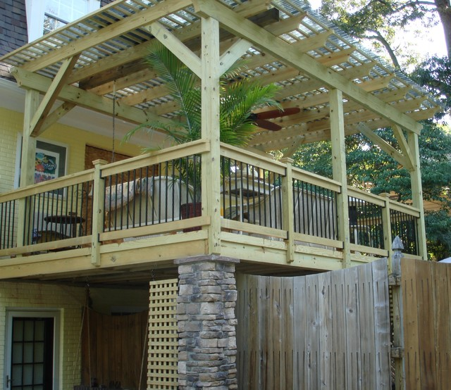 Custom Designed Wood Pergola With Polycarbonate Roof