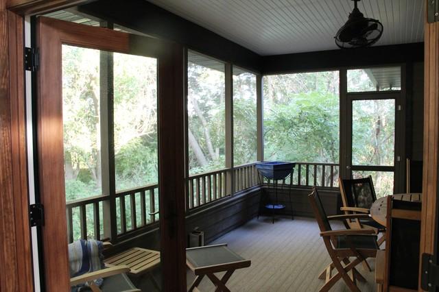 Custom Home rustic-porch