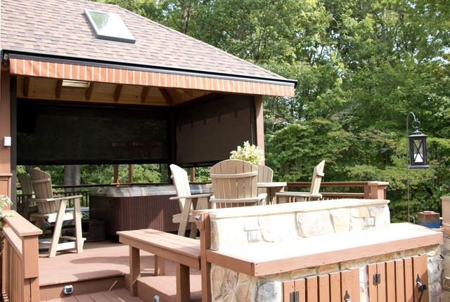 Custom Hot Tub Enclosure System Traditional Veranda