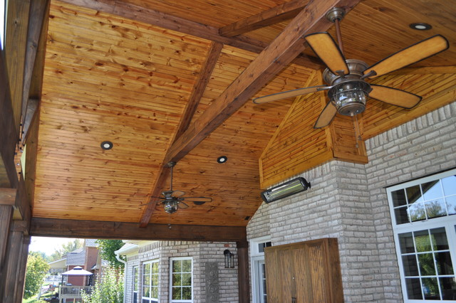 Porch With Tongue And Groove Ceiling