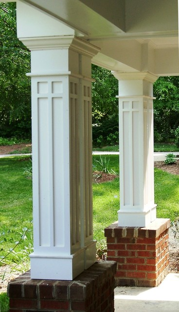 Custom porch columns traditional porch other metro for Decorative exterior columns for house