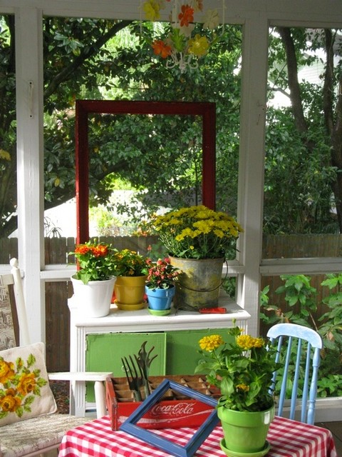 Dear Daisy Cottage-front porch eclectic-porch