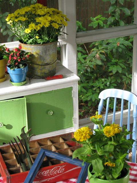 Dear Daisy Cottage- porch eclectic porch