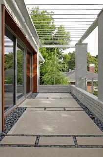 Decatur Contemporary Renovation Contemporary Porch