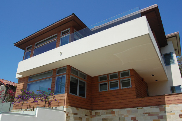 Deck overhang contemporary porch san diego by cohn for Balcony overhang
