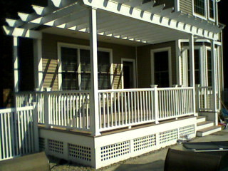 Deck Remodel traditional-porch