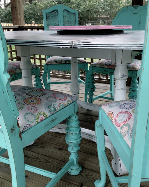 Dining table repurpose into client 39 s gazebo for Teal kitchen table