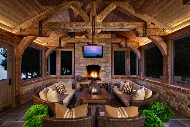 Door County Residence rustic-porch