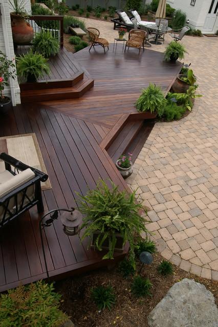 Eastport Ipe deck traditional-porch