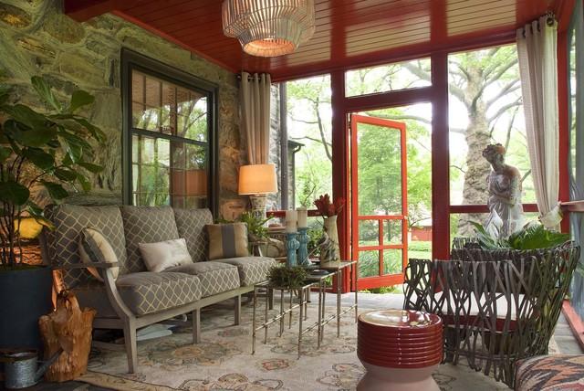 An Artful Design Contemporary Porch Philadelphia By Decorating Den Interiors Deborah