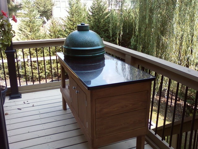 Egg Grill Traditional Porch Atlanta By E Amp D