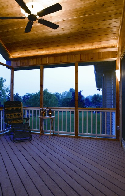 Elevated Screened Porch traditional-porch