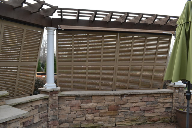 Elite Bahama Exterior Shutters Traditional Porch Charlotte By Elite Shutters Blinds Inc