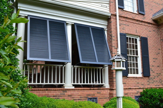 Elite Bahama Exterior Shutters Traditional Porch