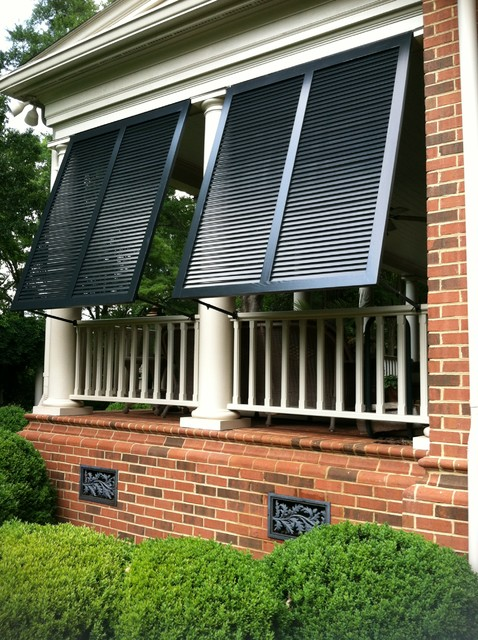 Elite bahama exterior shutters traditional porch for Traditional porch