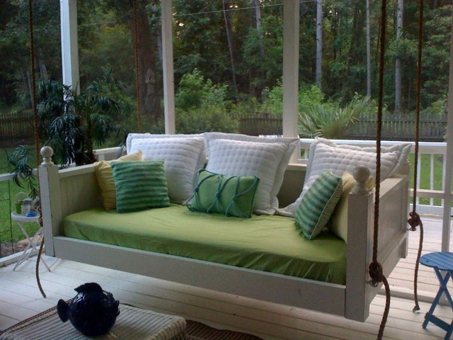 Captivating Emerson Bed Swing From Vintage Porch Swings   Charleston SC Traditional  Porch