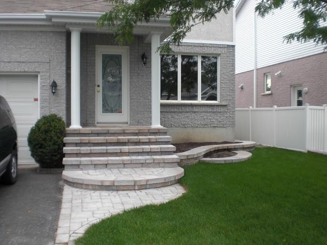 Entr e de maison et espace plante - Moderne entree veranda ...