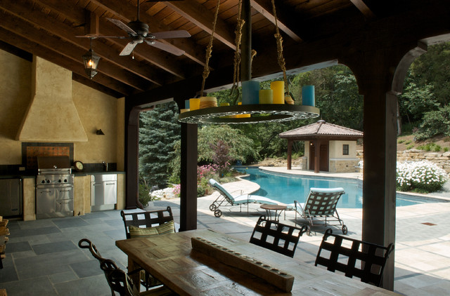 Exterior | covered porch mediterranean porch