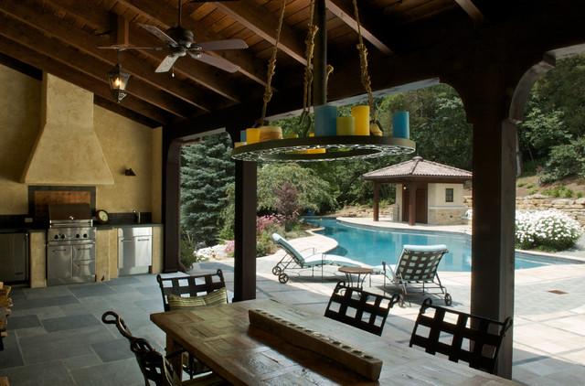 Exterior | covered porch mediterranean-porch