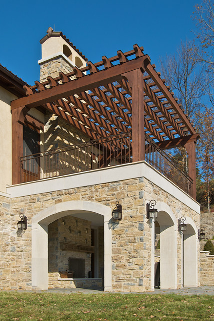 Exterior elevated porch for 2nd floor terrace design