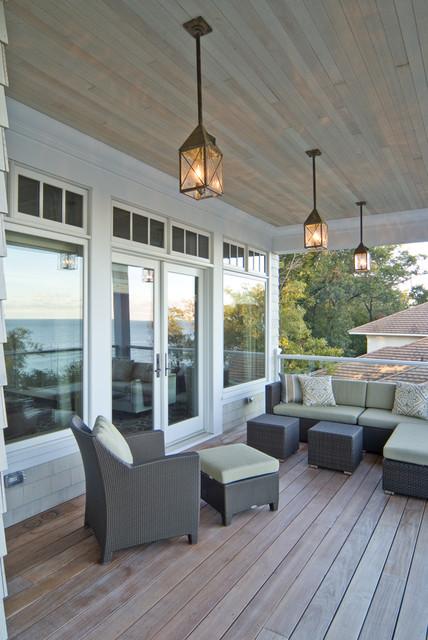 Delightful Exterior Porch Lighting Traditional Verandah