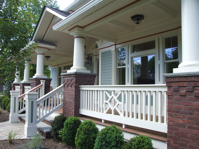 Exterior porch railing and trim traditional porch for Exterior balcony railing design
