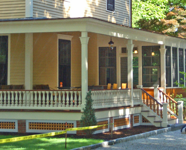 Exterior Remodel In Bristol Ri Traditional Verandah Other By Western Spindle Llc